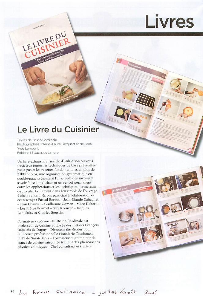 Le livre du cuisinier blog cuisine for Cuisinier elysee livre